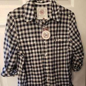 Authentic American Heritage Tops - 🆕 Gingnam Button Down Shirt -Navy/White - Size XL